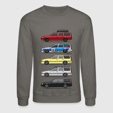 Stack of  Volvo 850R T5 Wagons - Crewneck Sweatshirt