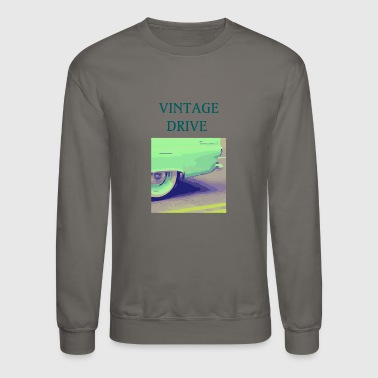 Driving Vintage Cars - Crewneck Sweatshirt