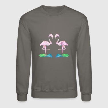 Low poly flamingos - Crewneck Sweatshirt