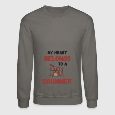 Beats My Heart Belongs To A Drummer - Crewneck Sweatshirt