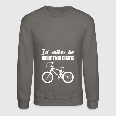 Bike - Mountain Bike - Bikes - Biking - Gift - Crewneck Sweatshirt