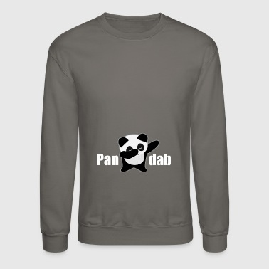 White Dabbing Panda panda gift cool dab dancing black white animal - Crewneck Sweatshirt