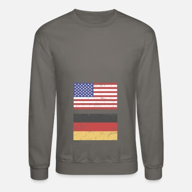 State Flag United States Flag & Germany Flag - Crewneck Sweatshirt