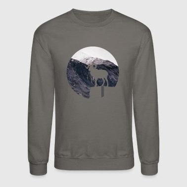 Mountain goat - hiking outdoor design - Crewneck Sweatshirt