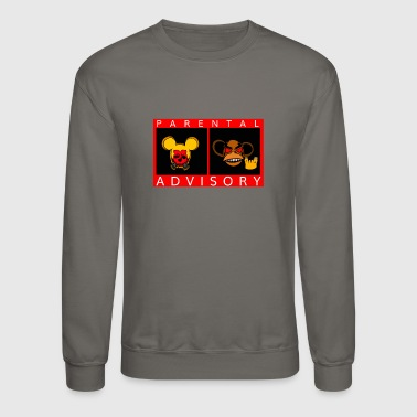 Parental Advisory Monkey Mouse Partens Kids - Crewneck Sweatshirt