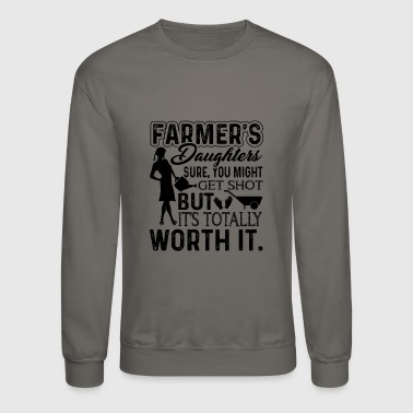 Daughter Farmer Daughter Love Shirt - Crewneck Sweatshirt
