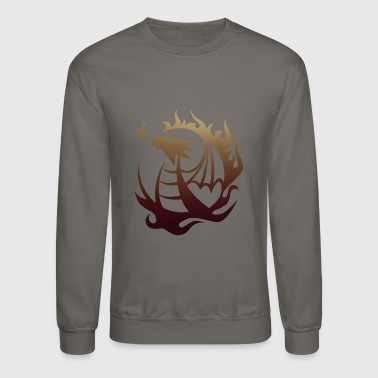 Dragon Flames - Dragons - Total Basics - Crewneck Sweatshirt