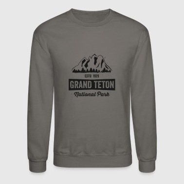 Grand Teton National Park TShirt Established 1929 Gift - Crewneck Sweatshirt