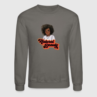 Natural Curly Natural Hair Beauty with Glass - Crewneck Sweatshirt