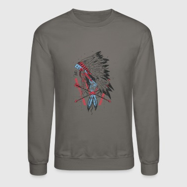 The leader native american apache sioux - Crewneck Sweatshirt