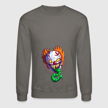 ceramic clown design by lucafear dbtvy2b - Crewneck Sweatshirt