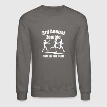 Annual Party 3rd Annual Zombie Run Til The Cure - Crewneck Sweatshirt