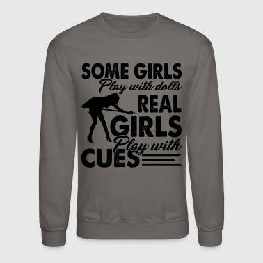 Billiards Girls Play With Cues Shirt - Crewneck Sweatshirt