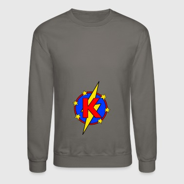 My Little Super Hero Kids & Baby Letter K - Crewneck Sweatshirt