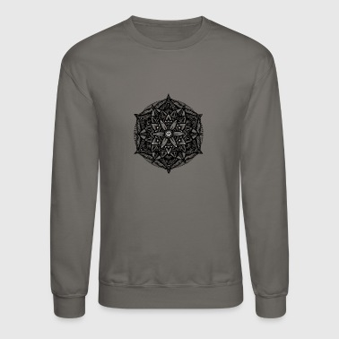 Sacred Geometry Flower of Life Mandala Star - Crewneck Sweatshirt