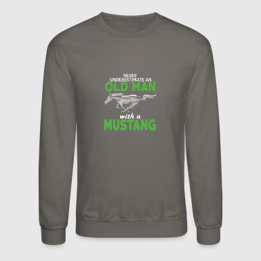OLD MAN WITH A MUSTANG SHIRT - Crewneck Sweatshirt
