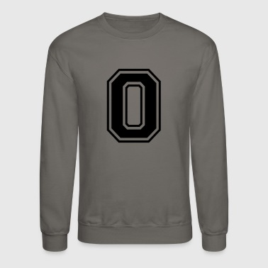 The Number 0 in College Style Font - Crewneck Sweatshirt
