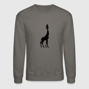 Bass Guitar And Giraffe - Crewneck Sweatshirt