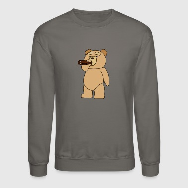 Rick And Morty Drinking Ted - Crewneck Sweatshirt