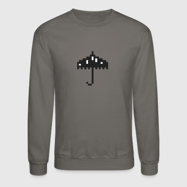 Umbrella pixel - Crewneck Sweatshirt