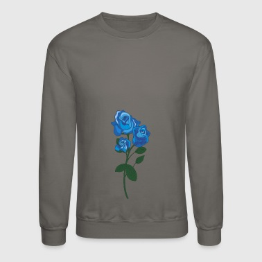 blue rose - Crewneck Sweatshirt