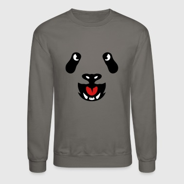 panda wild animal head 3106 - Crewneck Sweatshirt