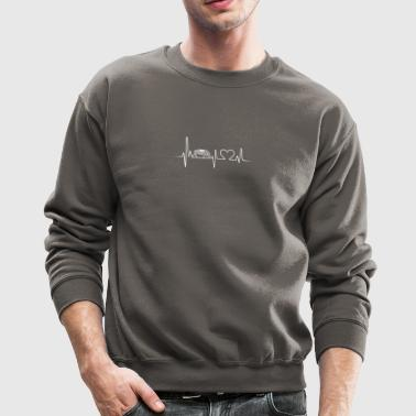 rhinoceros heartbeat shirt - Crewneck Sweatshirt