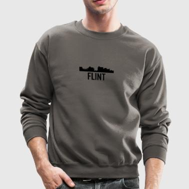 Flint Michigan City Skyline - Crewneck Sweatshirt