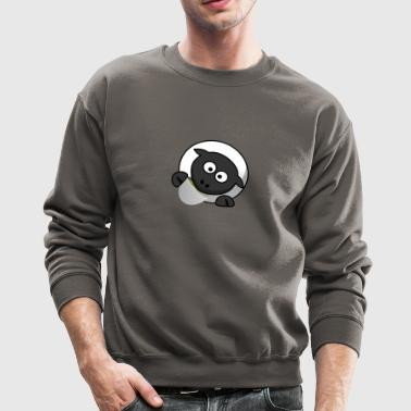 Funny Sheep drinking Tea - Crewneck Sweatshirt