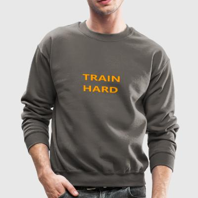 TRAIN HARD ORANGE - Crewneck Sweatshirt
