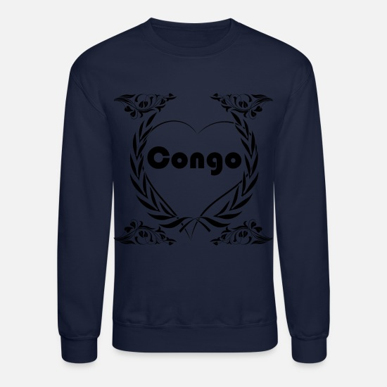 Love Hoodies & Sweatshirts - I love Congo - Unisex Crewneck Sweatshirt navy