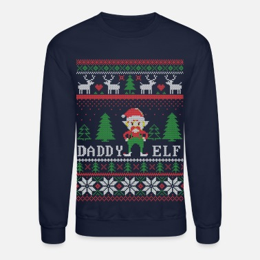 Daddy Elf Christmas - Crewneck Sweatshirt