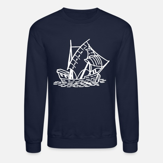 Sailboat Hoodies & Sweatshirts - Sailboat - Unisex Crewneck Sweatshirt navy