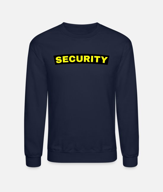 Supervisor Hoodies & Sweatshirts - Security Guard or Service Front and Back of Shirt - Unisex Crewneck Sweatshirt navy