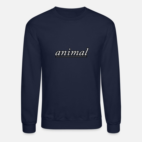 Animal Hoodies & Sweatshirts - animal - Unisex Crewneck Sweatshirt navy