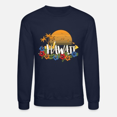 Hawaii Hawaiishirt men & woman, vintage style, islands - Unisex Crewneck Sweatshirt