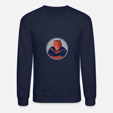 Russian Circles Russian Bear Arms Folded Circle Retro - Unisex Crewneck Sweatshirt