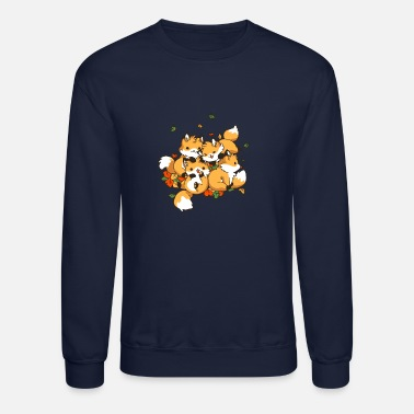 Playful Playful Foxes - Unisex Crewneck Sweatshirt