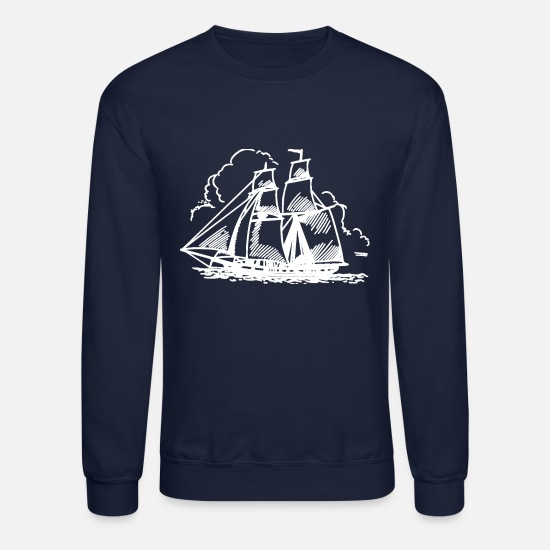 Sailboats Hoodies & Sweatshirts - Sailboat - Unisex Crewneck Sweatshirt navy