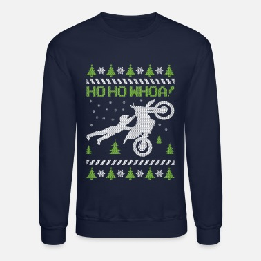 Motorcycle Ugly Christmas - Unisex Crewneck Sweatshirt