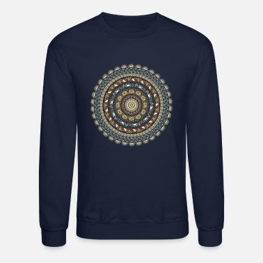 Medallion Pug Yoga Medallion - Unisex Crewneck Sweatshirt