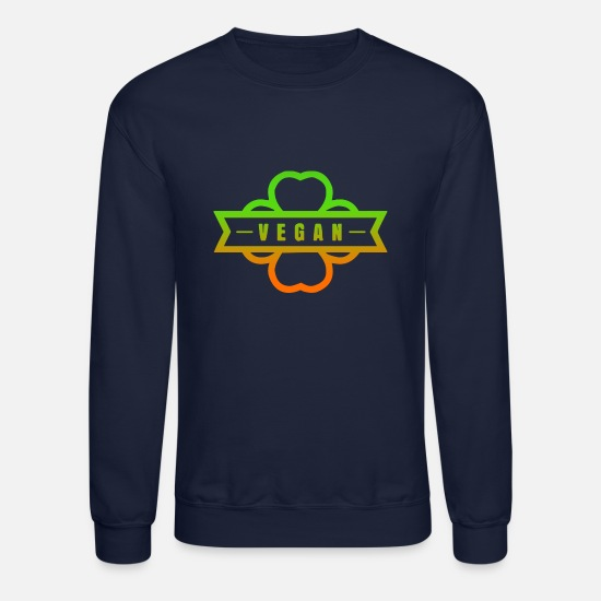 Slogans Hoodies & Sweatshirts - Vegan text green slogan - Unisex Crewneck Sweatshirt navy