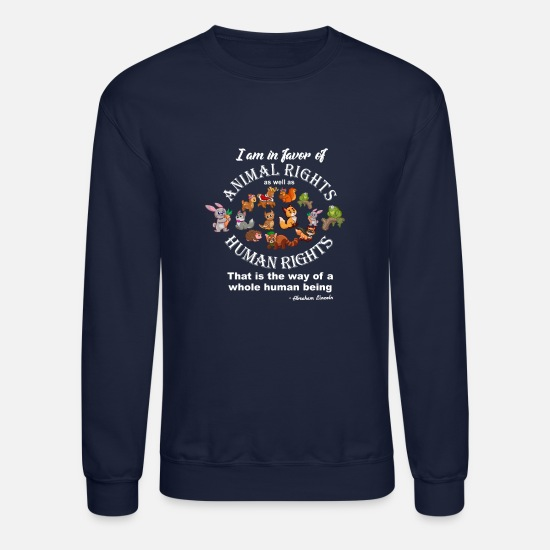 Animal Hoodies & Sweatshirts - Animal Rights - Unisex Crewneck Sweatshirt navy