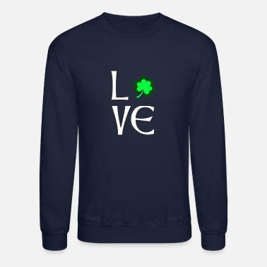 Day love shamrock st patricks day - Unisex Crewneck Sweatshirt