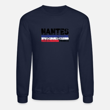 Lille Nantes France Flag Tricolor French Distressed Cool - Crewneck Sweatshirt