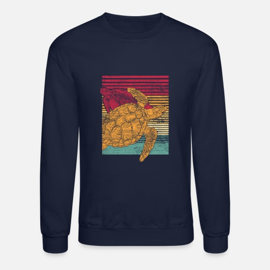 Retro Hoodies & Sweatshirts - Turtle retro - Unisex Crewneck Sweatshirt navy