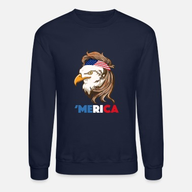 Bald Eagle Bald Eagle Mullet 4th of July - Merica - Crewneck Sweatshirt