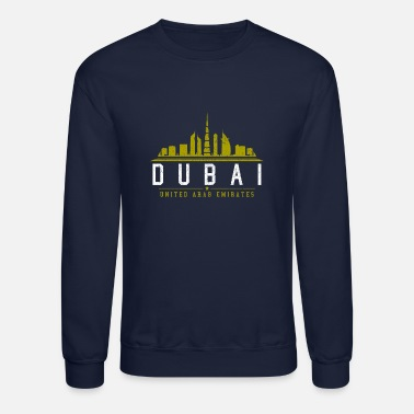 Uae Dubai Skyline - UAE United Arab Emirates Gift - Unisex Crewneck Sweatshirt