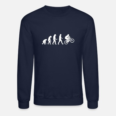 Downhill Evolution Downhill Mountain Bike - Unisex Crewneck Sweatshirt