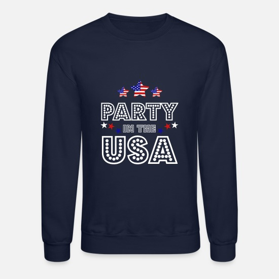 Patriotic Hoodies & Sweatshirts - Party USA 4th of July Patriotic Independence - Unisex Crewneck Sweatshirt navy